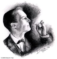 Portrait of Jeremy Brett, 1984 by tranimation-art