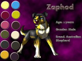 Character sheet - Zaphod by Sugarseme