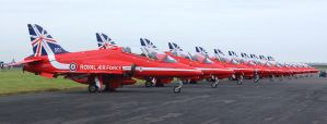 The Red Arrows Golden Year by Daniel-Wales-Images
