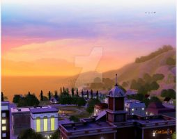 A Sims 3 Sunset by CatGal15