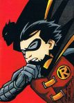Batman and Robin sketch card by KidNotorious