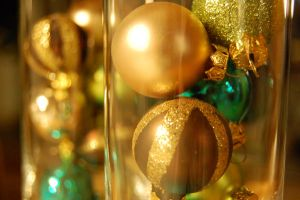 Glass made baubles by NSHNSH
