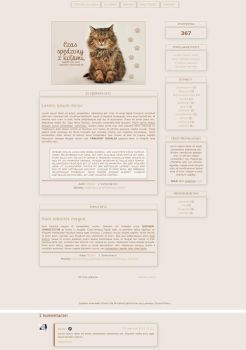 Blogspot template Meow by MySensitiveHeart