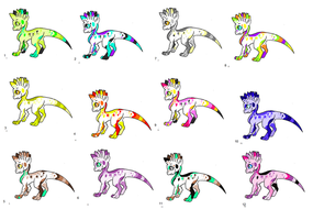 THEY RAINBOW LIZARDS HATCHED HOOOORAY by LoveLoupsGaroux