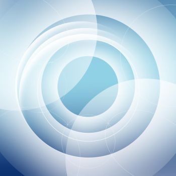 Blue circles abstract by MrMorgastic