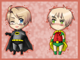 As Batman and Robin by DandelmiNia