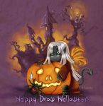 My Drow Halloween greetings by Kanuka76