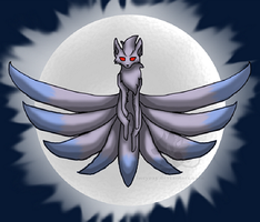 Silver Ninetales Small by Incyray