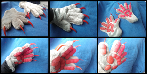 Sergal Handpaws by CuriousCreatures