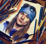 Axl Rose artwork by Cleicha