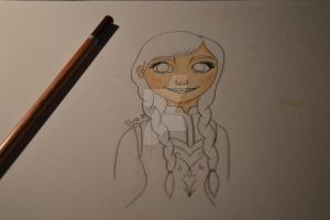 Anna Frozen | WIP by MiniBananaFace