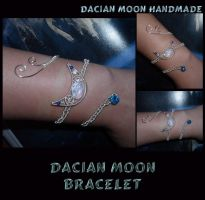 Dacian Moon Bracelet by NessaSilverwolf
