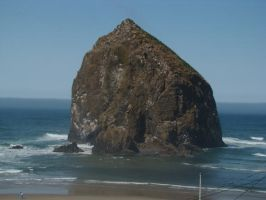 Haystack Rock by Stoked-Stock
