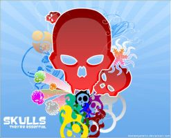Skulls Wallpaper by DanteMysterio
