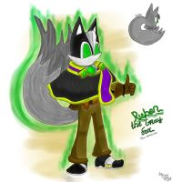 Ruben the Grey Fox (Sonic Fan-Character) by EngieTheCat