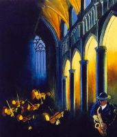 concert in a church by pledent