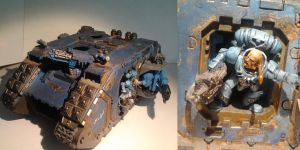 spacewolves landraider by ClearIt