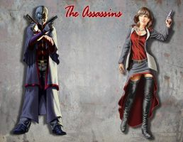 The Twin Assassins by deep-wulf
