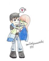 YJ Superboy x Miss Martian by blondiemi