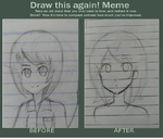 Before and After meme by lalatails456