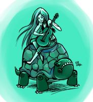 Marceline and a tortoise by boozits