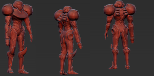 Samus Sculpt W.I.P by Unclesatan