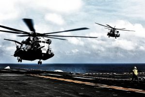 CH-53E Super Stallions by Monsterhunter-xD