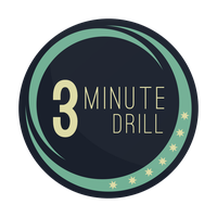 3 Minute Drill Logo (First Logo Attempt) by smcveigh92