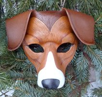American Foxhound Leather Mask by merimask
