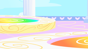 Cloudsdale Rainbow Fountains Background by mandydax