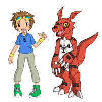Takato and Guilmon by SonicRocksMySocks