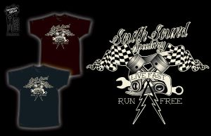 SouthSound Speed Way T-shirt 3 by InsanityShack