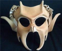 Pan-Bacchus Demon leather Mask by ParkersandQuinn