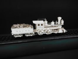 Ivory Carving of The Texas by SteamRailwayCompany