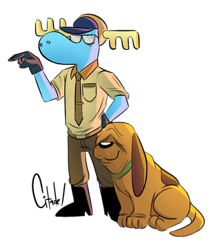 Officer Lumpy and his hound by citadeel
