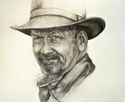 Pencil drawing of my dad. by rhyshaug