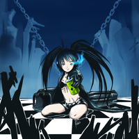 Black Rock Shooter Radio Active Drink by zeusplara