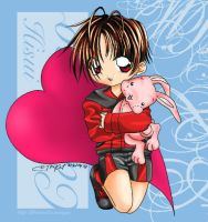 Hisui Caluroso and Pink Bunny by torikat