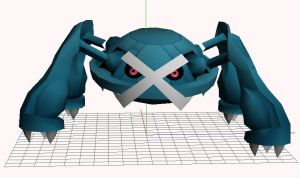 Metagross 3d model papercraft by javierini