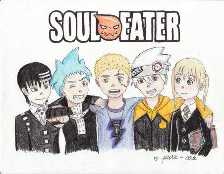 Soul Eater Group with my brother by pura-cera