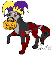 Trick or treat Jester by CalicoWoolfe
