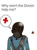 Sad Pyro seeks Medic by CoolestNinja1242