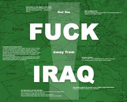 Fuck Iraq - In Green by valis
