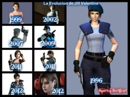 La evolucion de Jill Valentine by SandraRedfield