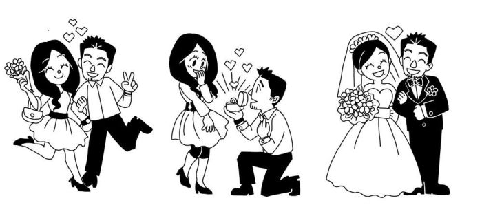wedding cartoon for sister by jinguj