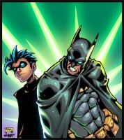 Batman and Robin Colors by SplashColors
