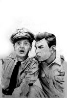 Andy Griffith Show Charcoal Drawing by craigdeboard111