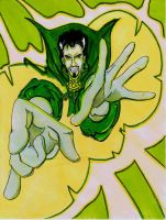 Dr Strange Yellow Green by spankingfemfatale