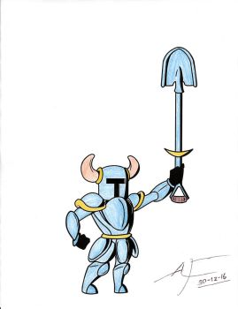 Shovel Knight - Colored by Raven-Ironclaw