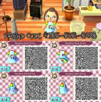 Animal Crossing New Leaf - QRCode RainbowDashDress by emalee86